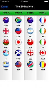 Rugby World Cup 2015 iPhone app